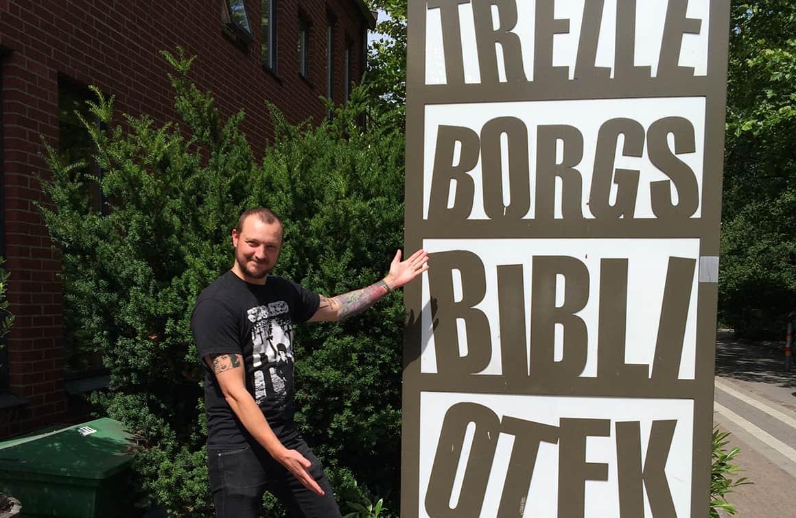 Erik Hall, Trelleborgs bibliotek.