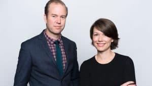 Olle Lidbom och Kajsa Loord är två av dem som jobbat med kommunikationen kring Millenium 5. Foto: Göran Segeholm